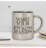 COVID 19 - Hand Washing Instruction Mug - Metal - Anti-Coronavirus Mug