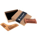 Wooden Beard and Mustache Comb Care set - Anti Static