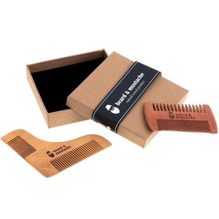 Holzbart und Schnurrbart Kamm Pflege Set - Anti Static