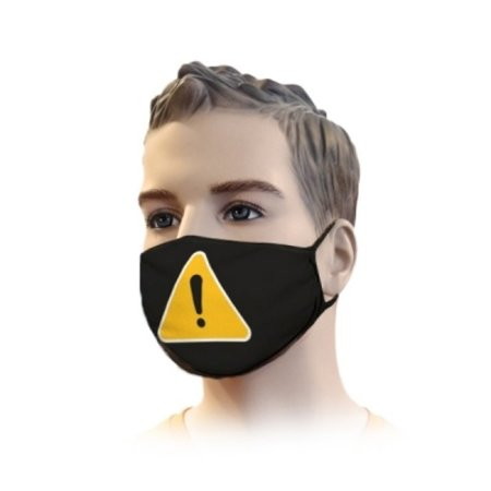Mondkapje Streetwear Warning Design | Mond Neus Masker | Mondmasker