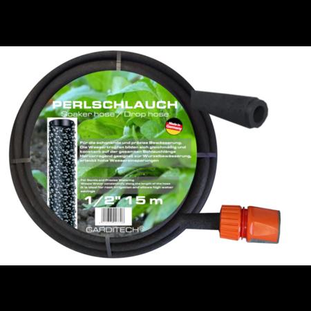 "GARDITECH Perlschlauch Schweißschlauch Tropfleitung 1/2 ""mit Verbindungsstück"