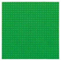 Large Baseplate Construction plate for Lego Building Blocks Green 32 x 32