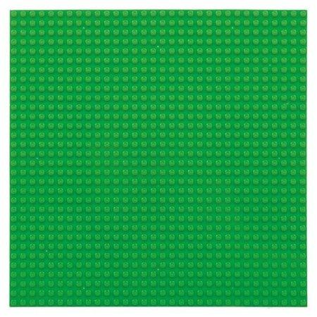 Geeek Große Grundplatte Bauplatte für Lego Bausteine Grün 32 x 32