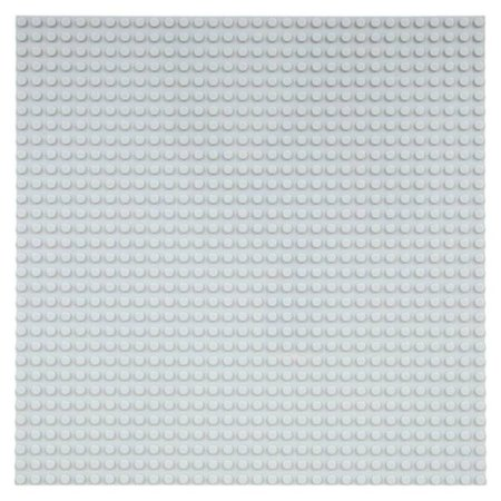 Geeek Große Grundplatte Bauplatte für Lego Bausteine Grau 32 x 32
