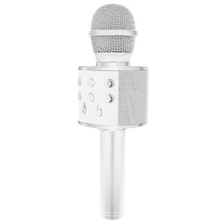 Draadloze Karaoke Microfoon Draadloos met Speaker Bluetooth Zilver