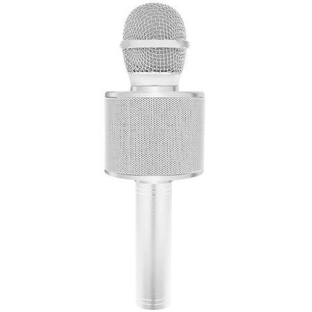 Wireless Karaoke Microphone Wireless with Bluetooth Speaker Silver