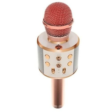 Wireless Karaoke Microphone Wireless with Bluetooth Speaker Rosé Gold