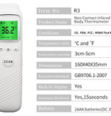 Digital Non Contact Infrared Laser Clinical Thermometer Forehead