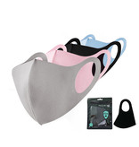 Facemask Fashion Ice Silk Cotton Black | Mouth Nose Mask | Mouth mask