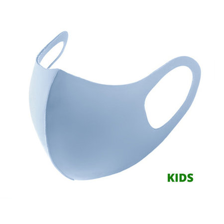 Children Facemask Fashion Ice Silk Cotton Blue   Mouth Nose Mask   Mouth mask