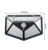 Solar Sensor Light - Buitenlamp met Bewegingssensor - 100 LEDs - Wit Licht