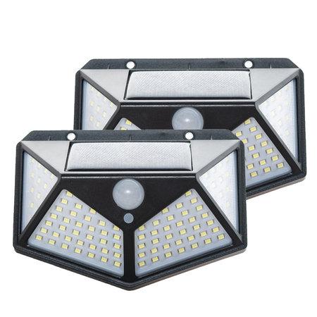 Solar Sensor Light - Outdoor Lamp with Motion Sensor - 100 LEDs - White Light
