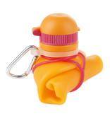 Zielonka Viv Bottle 3.0 - Foldable Silicone Bottle / Water Bottle - Orange