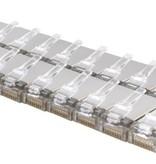 Netzwerk-Tester-Set für den Fall - RJ45 / RJ12 / RJ11 / Cat5 / Cat5e / Cat6 / UTP / LAN - Kabeltester mit Crimpzange und LSA-Zange