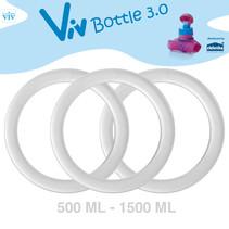 Set (3 Stück) Dichtringe für 500 bis 1500 ml Viv Bottle 3.0 - Ersatzteil