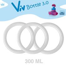 Set (3 Stück) Dichtringe für 300 ml Viv Bottle 3.0 - Ersatzteil