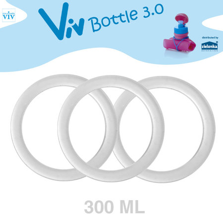 Set (3 pieces) Sealing rings for 300 ml Viv Bottle 3.0 - Spare part