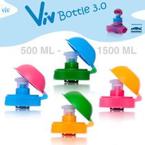 Draaidop met afsluitbare trektuit voor 500 tot 1500 ml Viv Bottle 3.0 - Reserveonderdeel