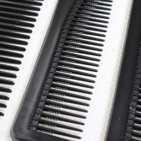 Professional comb set 10-piece in case - Barber's combs set