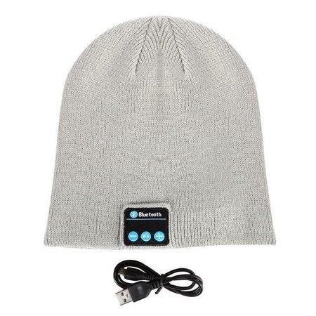 Geeek Bluetooth Headset Beanie Light Grey