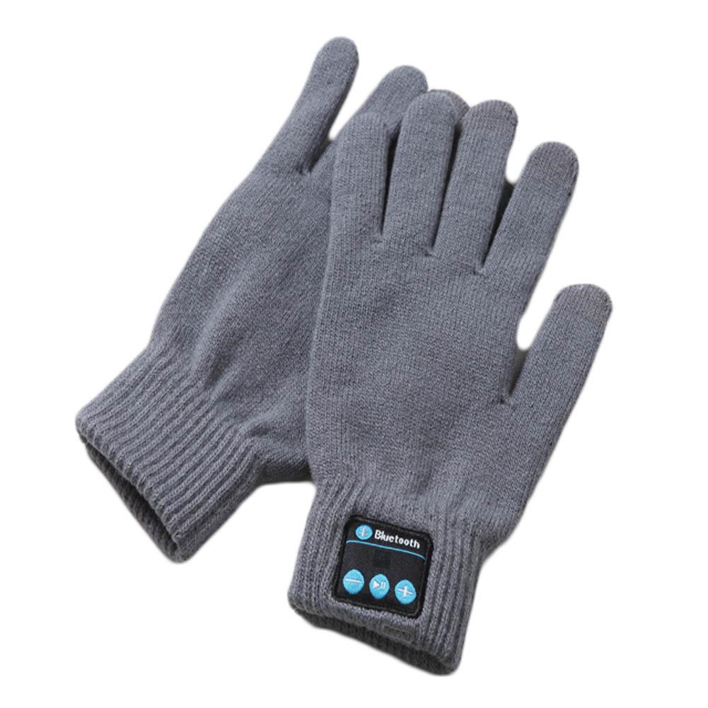 Bluetooth Talking Music Handschoenen Grijs