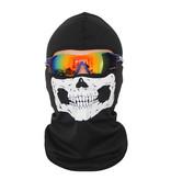 Geeek Balaclava Ski Hut Skull - Hut mit Totenkopf Druck
