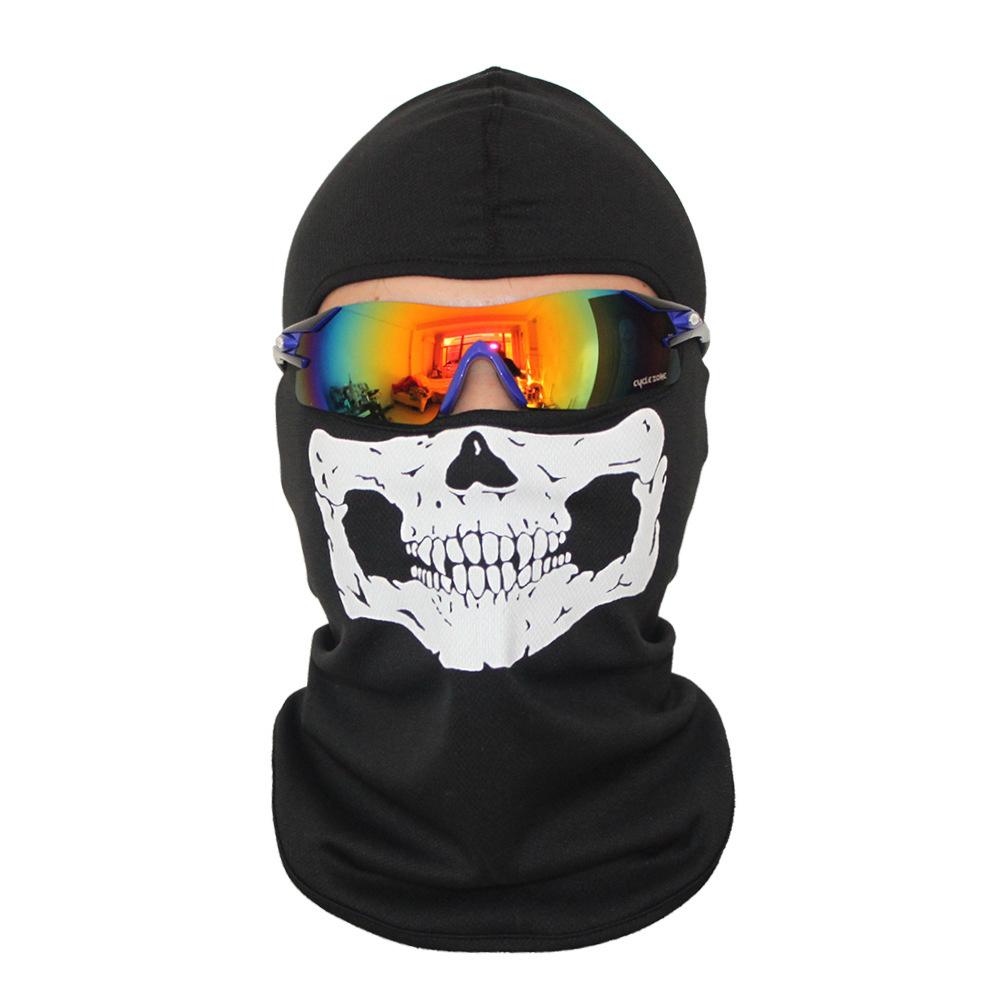 Bivakmuts Ski Muts Skull - Muts met schedel print Model A