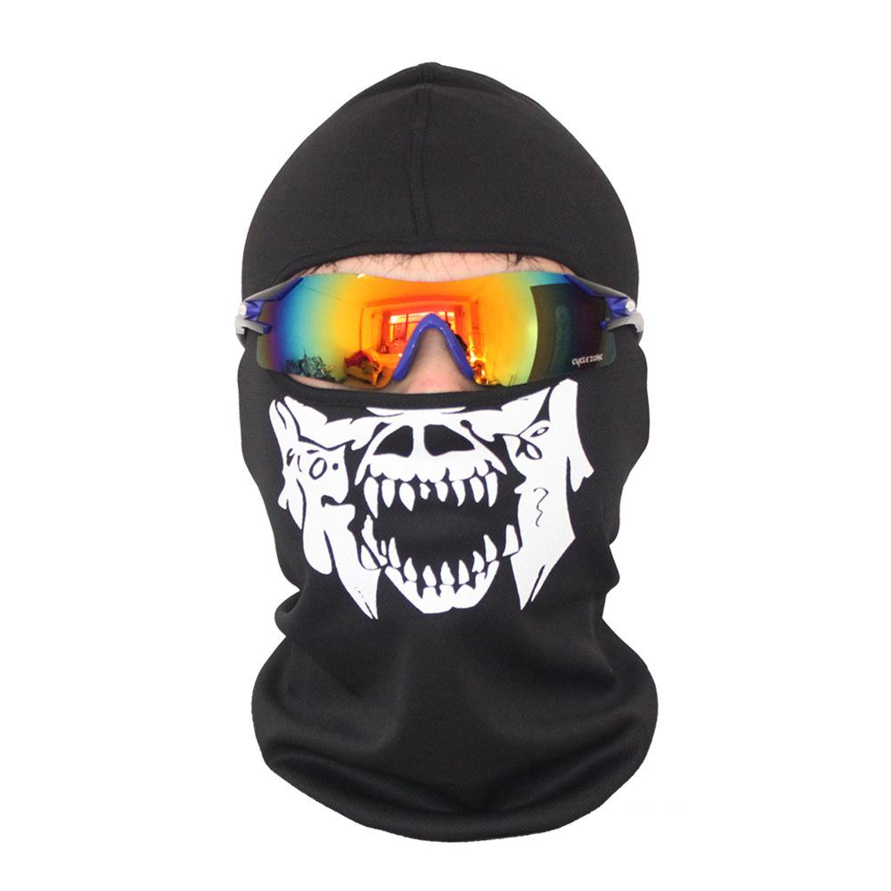 Bivakmuts Ski Muts Skull - Muts met schedel print Model B