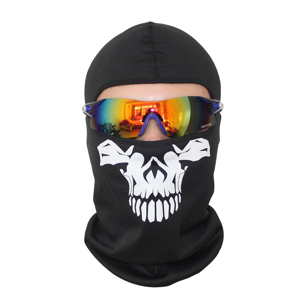 Bivakmuts Ski Muts Skull - Muts met schedel print Model C