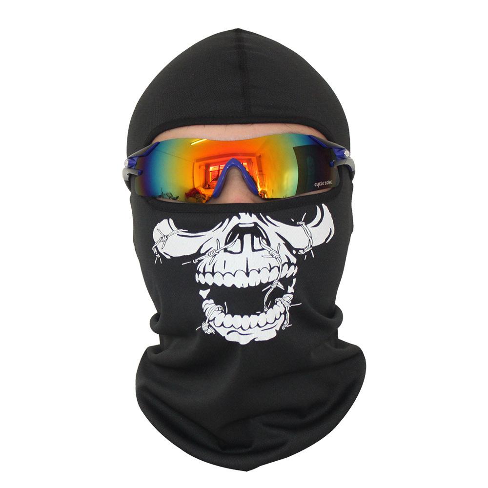 Bivakmuts Ski Muts Skull - Muts met schedel print Model D