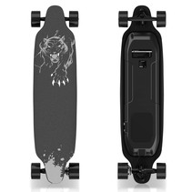 Electric Longboard - Skateboard - Leopard Black - 400W - with remote control