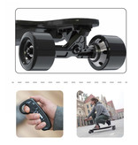 Elektrisch Longboard - Skateboard - Luipaard Zwart - 400W - met afstandsbediening