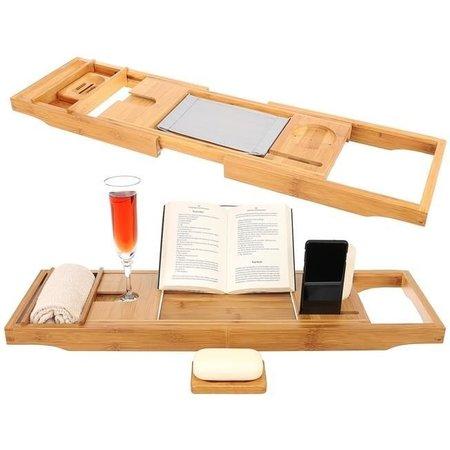 Luxury Bamboo Extendable Bath Rack Bath Board