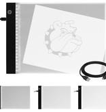 A4 - LED Lightpad - LED Teken Tablet - Diamond Painting Lichttafel - Ultradun
