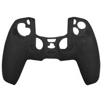 Silicone Case Cover Skin voor PS5 DualSense Controller - Zwart