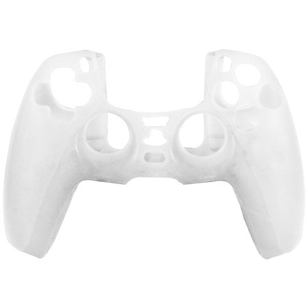 Geeek Silicone Case Cover Skin for PS5 DualSense Controller - White