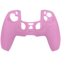 Silicone Case Cover Skin voor PS5 DualSense Controller - Roze