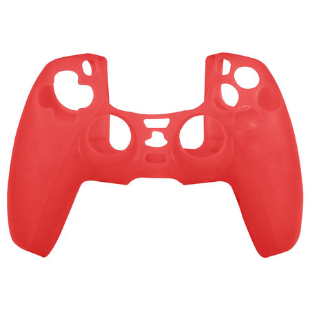 Geeek Silicone Case Cover Skin voor PS5 DualSense Controller - Rood