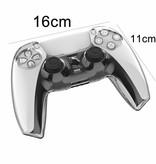 Geeek Crystal Case Hartschalenabdeckung für PS5 DualSense Controller - Transparent