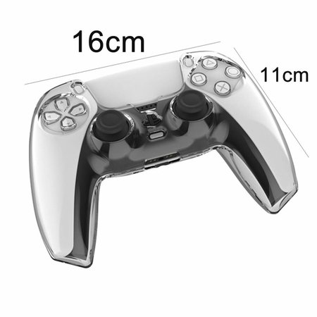 Geeek Crystal Case Hard Shell Cover for PS5 DualSense Controller - Transparent