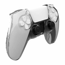 Crystal Case Hard Shell Cover for PS5 DualSense Controller - Transparent