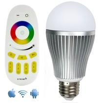 Wifi RGBW 9W LED-Lampe mit Fernbedienung und App