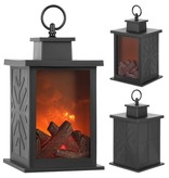 LED Fireplace Lantern Fire lamp Mood lighting Christmas 28 cm