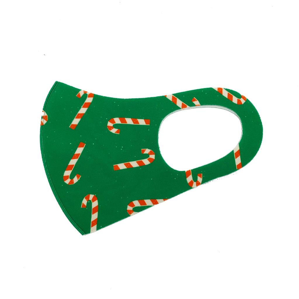 Mondkapje Fashion Ice Silk Cotton Christmas | Mond Neus Masker | Mondmasker Candy - Green