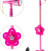 Children's microphone on a stand - Toy microphone on a stand - Pink