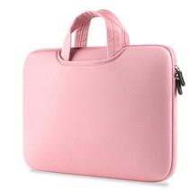 Airbag Universele 2-in-1 sleeve / tas voor laptops tot 14 inch - Roze