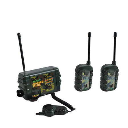 Radio Command Central with Microphone + 2x Walkie Talkies