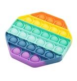 Pop it Fidget Toy Regenboog - Bekend van TikTok - Hexagon - Rainbow
