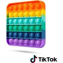 Pop it Fidget Toy- Known from TikTok - Square- Rainbow