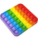 Pop it Fidget Toy Regenboog - Bekend van TikTok - Vierkant- Rainbow